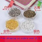 DIY Beaded Material Small Hoop Lap Connection Ring Circle About DIA 3/4/5mm 50PS