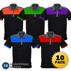 10 x Mens Charger Polo Shirt Contrast Sport Club Size S-5XL New Mechanic P500MS