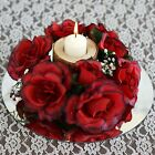 8 Artificial ROSES FLOWERS CANDLE RINGS Centerpieces Wedding Party Flowers SALE