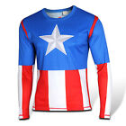 Mans Compression Shirt Long Sleeve Sports Jersey Marvel Heroes Bicycling T-shirt