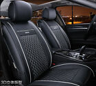 Universal PU Leather Car Seat Covers Car Seat Cushion Cover Black+White