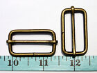 "BH20L-AB 50pcs 1-1/4""x5/8""x3.75mm ANTIQUE BRASS Metal strap slides wire triglide"