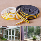 NEW 5m D Type Seal Strip Self Adhesive Home Window Door Draught Excluder Foam