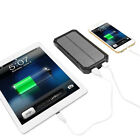 100000mAh Solar Power Bank 2USB 6LED Battery Waterproof Charger For Mobile Phone