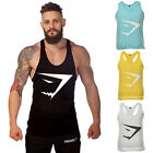 Men Gym Printed Tank Top Stringer Bodybuilding Fitness Muscle Vest Strong Tops O