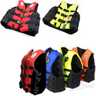 Adult Swimming Polyester Foam Life Jacket Vest Whistle Fully Enclosed L XL