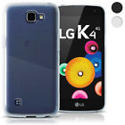 Glossy TPU Gel Case Skin for LG K4 K120 2016 Bumper Soft Cover Screen Protector