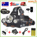 BORUIT 13000LM 3XXM-L T6 LED Headlamp 4 Mode Headlight 18650 Head Torch USB Lamp
