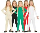Girls Boys Black White Red Green Nude Bodysuit Leotard Dance Costume Outfit