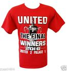 United CUP WINNERS 2016 Tshirt Selection Manchester v Palace F A