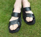 MENS 100% MOROCCAN LEATHER SANDALS * BLACK & BROWN  * 5 sizes available