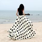 Oversized Boho Chiffon Maxi Polka Dot Womne Casual Summer Beach Long Skirt Dress