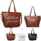 (Free Shipping) NEW Women's Faux Leather COCO Shoulder Bag, Shopper Handbag