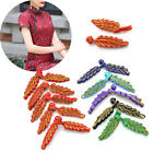 5Pc Metallic Ribbon Chinese Frog Closure Button Knot Sewing Needlework Accessory
