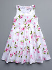 Pom Pom Pink/White Floral Sleeveless Cotton Girls Party Dress 5/6 $84 NWT