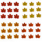 100-1000pcs Fall Silk Leaves Wedding Autumn Maple Leaf Decorations DIY Creative