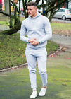 Gym King Grey Full Tracksuit Top & Bottoms Gym Wear Muscle Fit