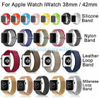 Replacement Wrist Bracelet Band Strap Silicone Fitness For Apple Watch 38mm/42mm