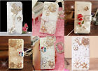 Butterfly Rose Ballerina Bling Crystal Wallet Leather Case For Samsung Galaxy