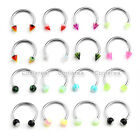 10pcs 16g Steel Horseshoe Nose Nipple Lip Rings Septum Earrrings Body Piercing