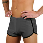 Men's New Charcoal Retro Fitness Hot / Workout Gym Short By Gary Majdell Sport
