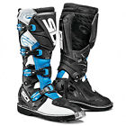 NEW SIDI X3 MX DIRTBIKE OFFROAD BOOTS WHITE/LIGHT BLUE/BLACK ALL SIZES