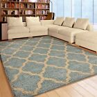 RUGS AREA RUGS CARPET SHAG RUGS 8X10 AREA RUG MODERN LIVING ROOM LARGE BLUE RUGS