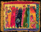 Abstract Arts Cats Hand Painted Design Printed Needlepoint Canvas 052