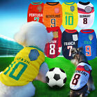NEW Puppy Pet Dog Cat Vest Summer Clothes T-shirt Sport Football Soccer Costume