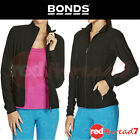 BONDS Womens Active Black Jacket Gym Running Sports Sport Cycle Quick Dry New