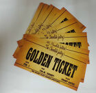 CHRISTMAS GIFTS 10 X CHOCOLATE FACTORY GOLDEN TICKETS. STOCKING FILLERS.