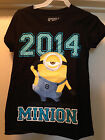 DESPICABLE ME 2 Black Class of 2014 Minion Girls Tee T Shirt Size 4-16 Brand New