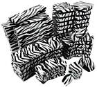 Zebra Print Cotton Filled Gift Boxes Jewelry Cardboard Box Lots of 12~25~50~100