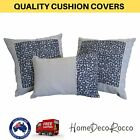 Cushion Cover Blue And White Polyester Cotton Bed Sofa Throw Pillow Case