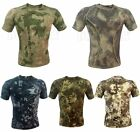 Sport Army Tactical Hunting Men's T-Shirts Wicking Short Sleeve Skin Tight Camo