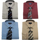 Mens Tom Hagan Shirt & Tie Long Sleeve Boxed Gift Set Work Wedding Smart Formal