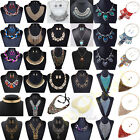 Luxury Charm Pendant Chain Crystal Choker Chunky Statement Bib Necklace Vintage