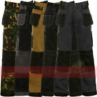 Mens Work Trouser Multi & Knee Pad Pockets Trade Pro Triple Stitched Workwear