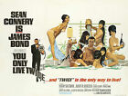 Home Wall Print - Vintage Movie Film Poster - YOU ONLY LIVE TWICE - A4,A3,A2,A1 £5.99 GBP on eBay