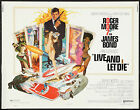 Home Wall Print -Vintage Movie Poster - JAMES BOND LIVE AND LET DIE -A4,A3,A2,A1 £5.99 GBP on eBay