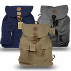 Rakuda Santorini Canvas Rough Backpack Washed Leather 13x6x15