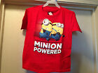 DESPICABLE ME 2 Red Minion Powered Boys Tee T Shirt Sizes 6-18 Brand New