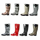 Boots Rain Rubber Women Flat wellies Snow Rainboots All Styl