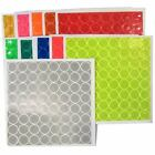Внешний вид - 1in Reflective Adhesive Vinyl Hot Dots (Sheet of 64 ) - 11 Colors to Choose From