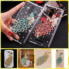 Cute For Sony Bling Peacock Diamond Jewelry Crystal Hard Skin Back Case Cover