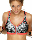Shock Absorber Zip Front Wire Free Sports Bra S00BW Pink, Purple, Grey, Lime