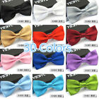 1Pcs Mens Unisex Tuxedo Bowtie Solid Color Neckwear Adjustable Bow Tie Pre-Tied