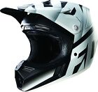 NEW 2016 FOX RACING V3 SHIV DIRT BIKE MOTOCROSS HELMET BLACK/ WHITE SIZE SMALL S
