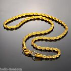 1PC HOT Stainless Steel 4mm Gold Plated Chain Twist Chain Necklace