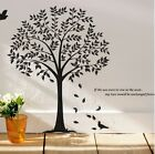 wall stickers Giant Bodhi tree bird leaves decor decal living vinyl home mural